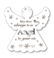 Angel by your side White Plaque