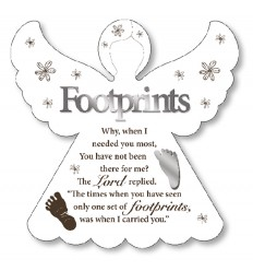 Footprints Angel Plaque