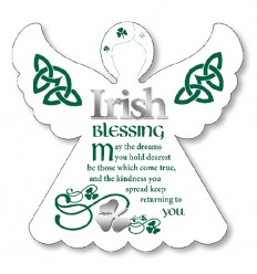 Irish Blessing Angel Plaque