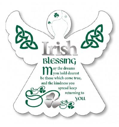 Irish Blessing Angel Plaque