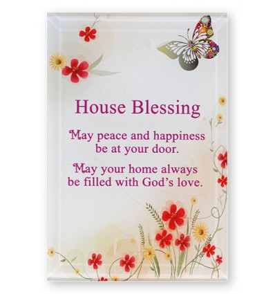 House Blessing Glass Plaque