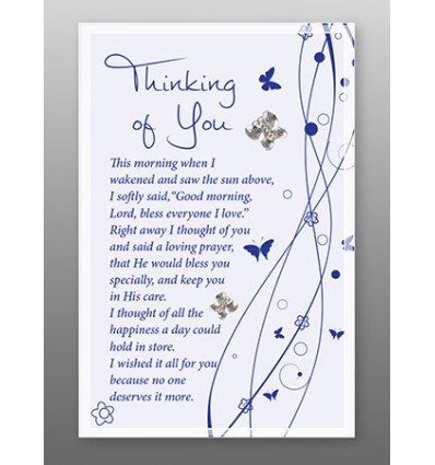 Large Thinking of You Glass Plaque