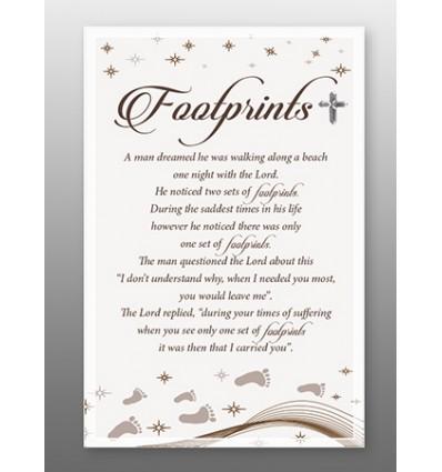 Large Footprints Glass Plaque