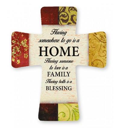 New Home Cross Plaque