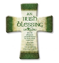 An Irish Blessing Cross Plaque