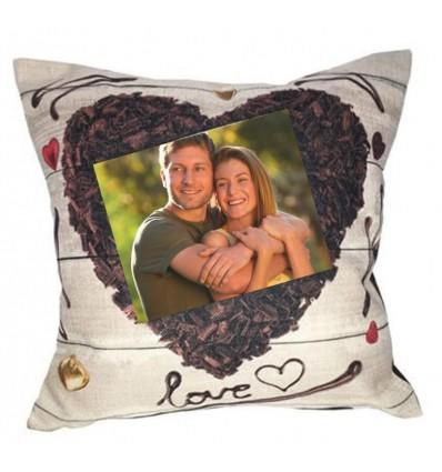 Personalised Valentine's Cushion - Heart
