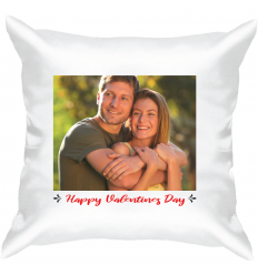 Personalised Valentine's White Satin Cushion -