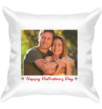 Personalised Valentine's White Satin Cushion -