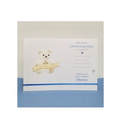 Christening boy Personalised Card - 3