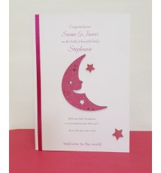 Baby Girl Personalised Card - 8