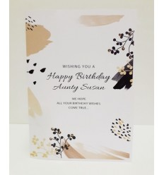 Gold & Black Personalised Birthday Card - 12