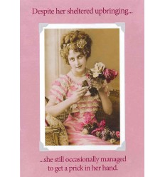 Vintage funny birthday card