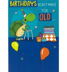Tortoise funny birthday card