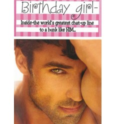 Hunk birthday card