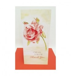 THANK YOU Red Rose Greeting card