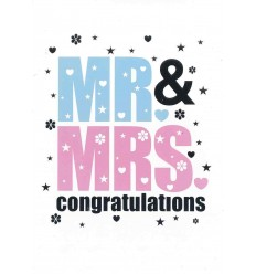 Mr & Mrs wedding day card