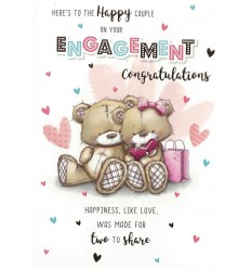 To the happy couple Engagement card