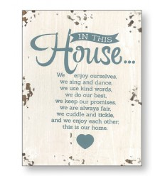 In This House Wooden Plaque