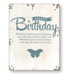 Birthday Wooden Plaque