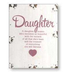 Daughter Wooden Plaque