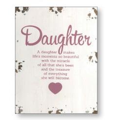 Daughter Wooden Plaque