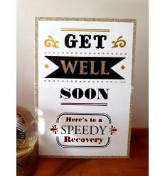 Get Well Soon - glitter card