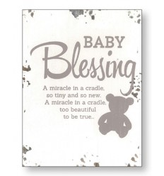 Baby Blessing Wooden Plaque