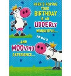 Udderly wonderful ... funny card