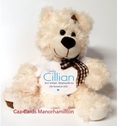 Baby Boy Teddy Bear Personalised