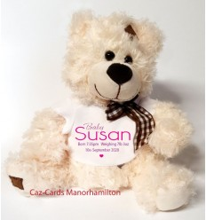 Baby Girl Teddy Bear Personalised