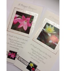 Prayer Bouquet or Special Intention Prayer Card - signed