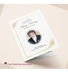 Funeral Booklet Gold Rose design