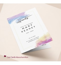 Watercolour Design Funeral Mass Booklet