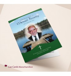 Fishing Lake Funeral Mass Booklet with photo