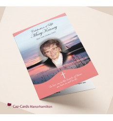 Stunning Sunset Funeral Mass Booklet