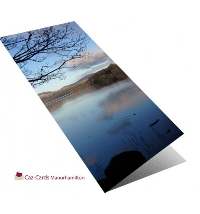 Lake With Mountain View greeting card