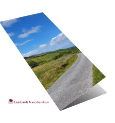 Road Through Irish Hills greeting card