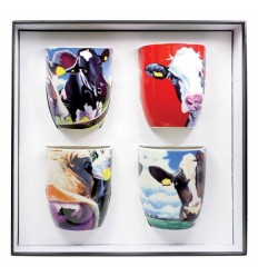 Set Of 4 Cow Mugs from Tipperary Crystal
