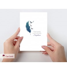 Sympathy Feather Personalised Card