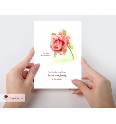 Sympathy Watercolour Rose Personalised Card