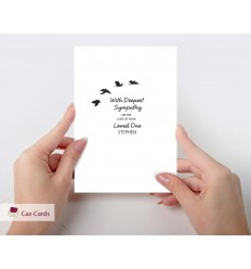 Sympathy Personalised Card with birds