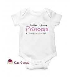 Little Prince / Princess Babygrow newborn with name and date