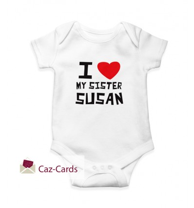 Brother / Sister Babygrow personalised with name