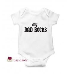 Dad Rocks Babygrow