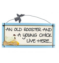Young Chick Wooden Sentiment Plaque