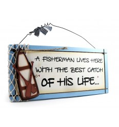 Fisherman Wooden Sentiment Plaque