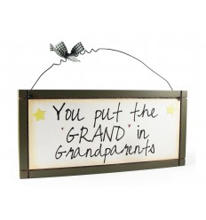 Grand & Grandparents  Wooden Sentiment Plaque