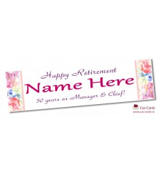 Floral Banner - Personalise with your wording