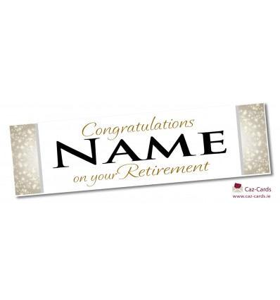 Stars Banner - Personalise with your wording