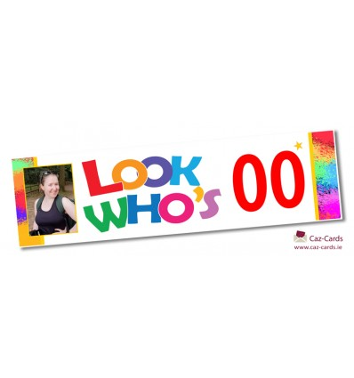 Multicolour Banner - Personalise with your wording and image